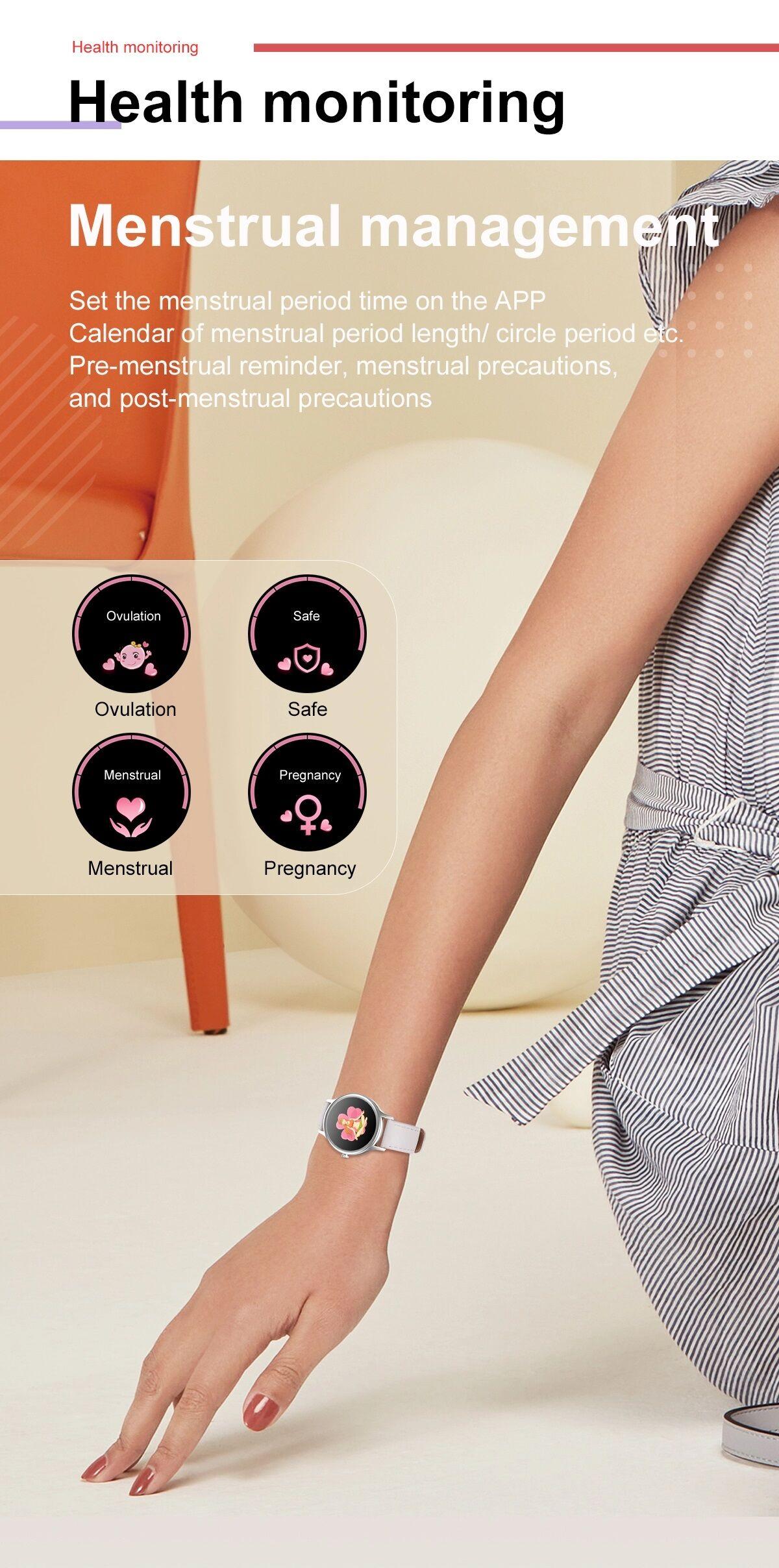 No.1 D66 Női Okosóra EKG és Vérnyomásmérő funkcióval