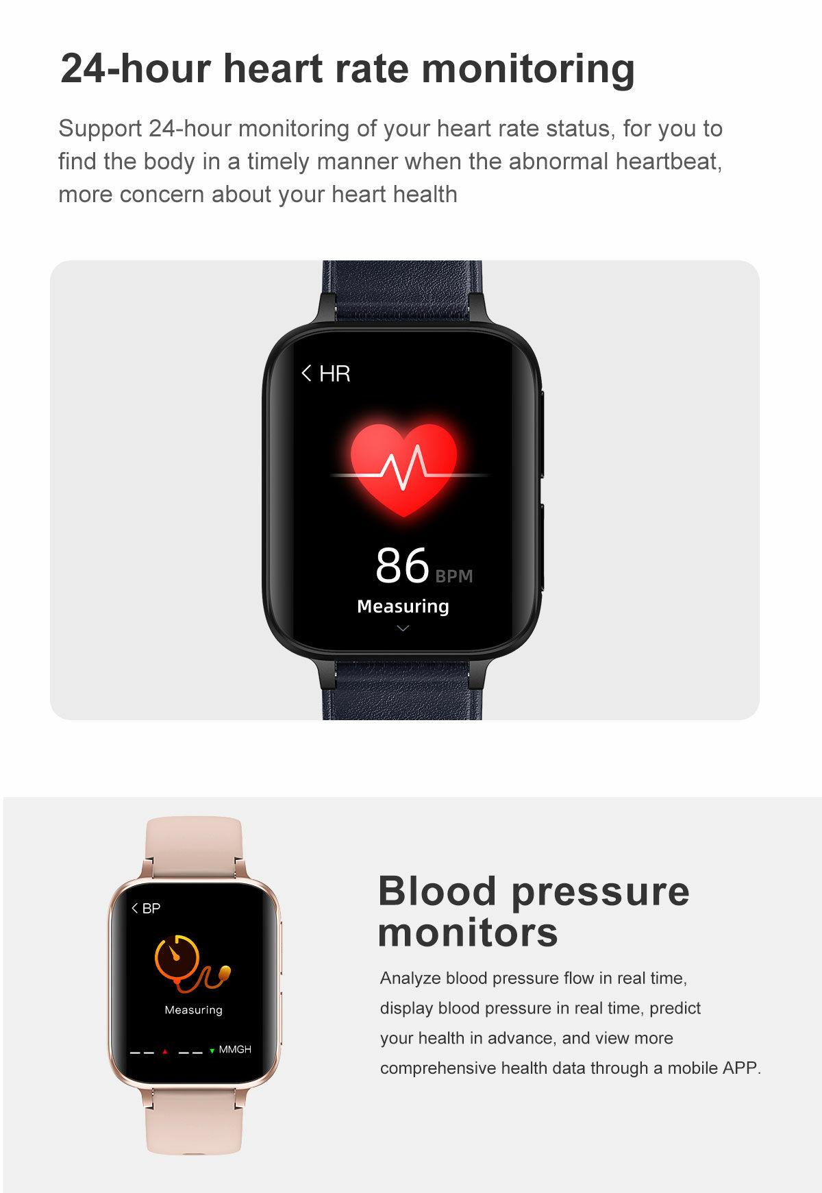No.1 D93 Vérnyomásmérő EKG Okosóra Pulzusmérő és BT Hívás funkcióval
