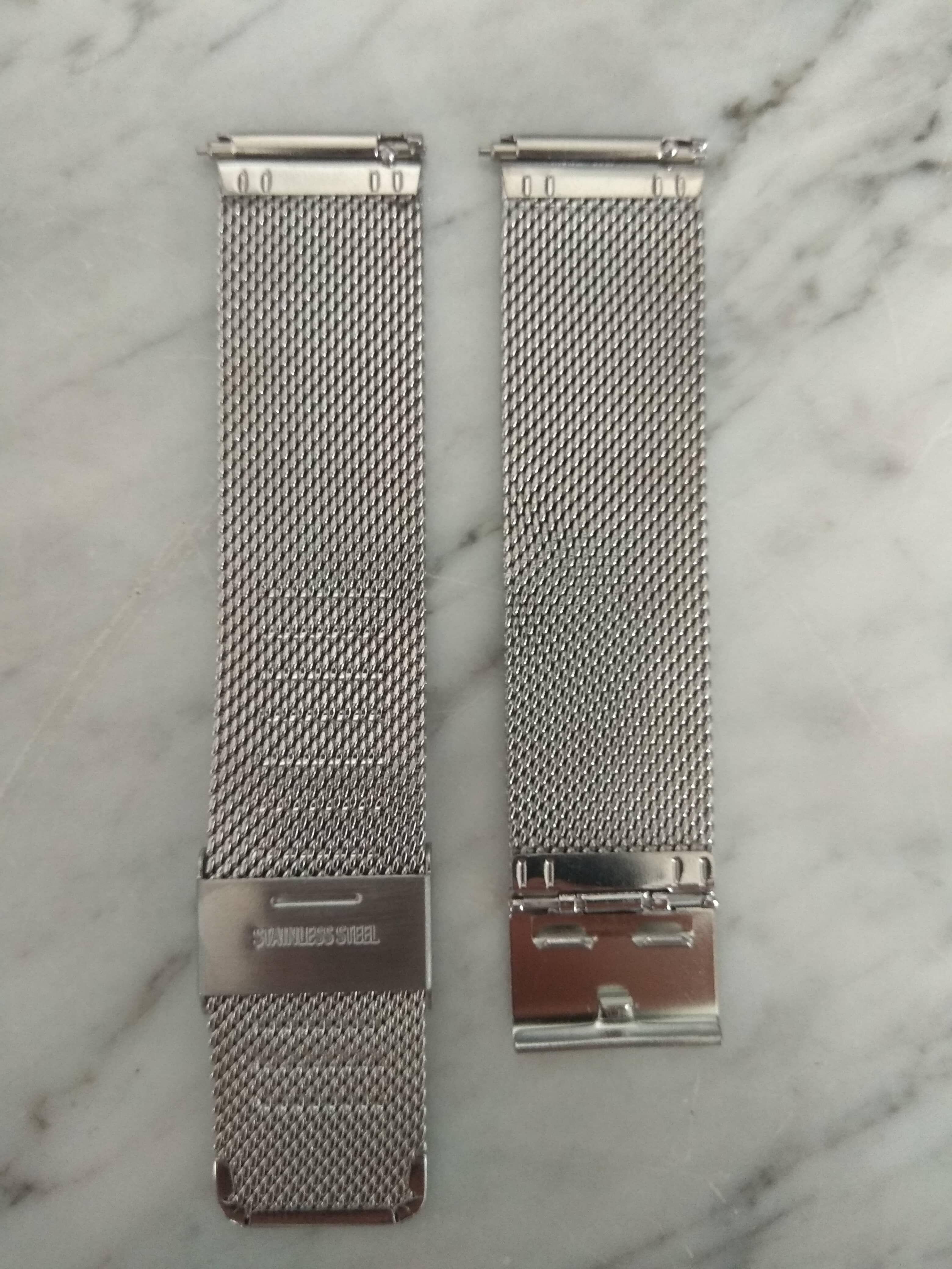 ezüst fém szíj rozsdamentes acél okosórához 22mm